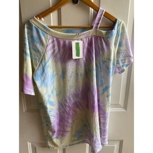 Lily Pad Asymmetrical Tie Dye Top and Short Set